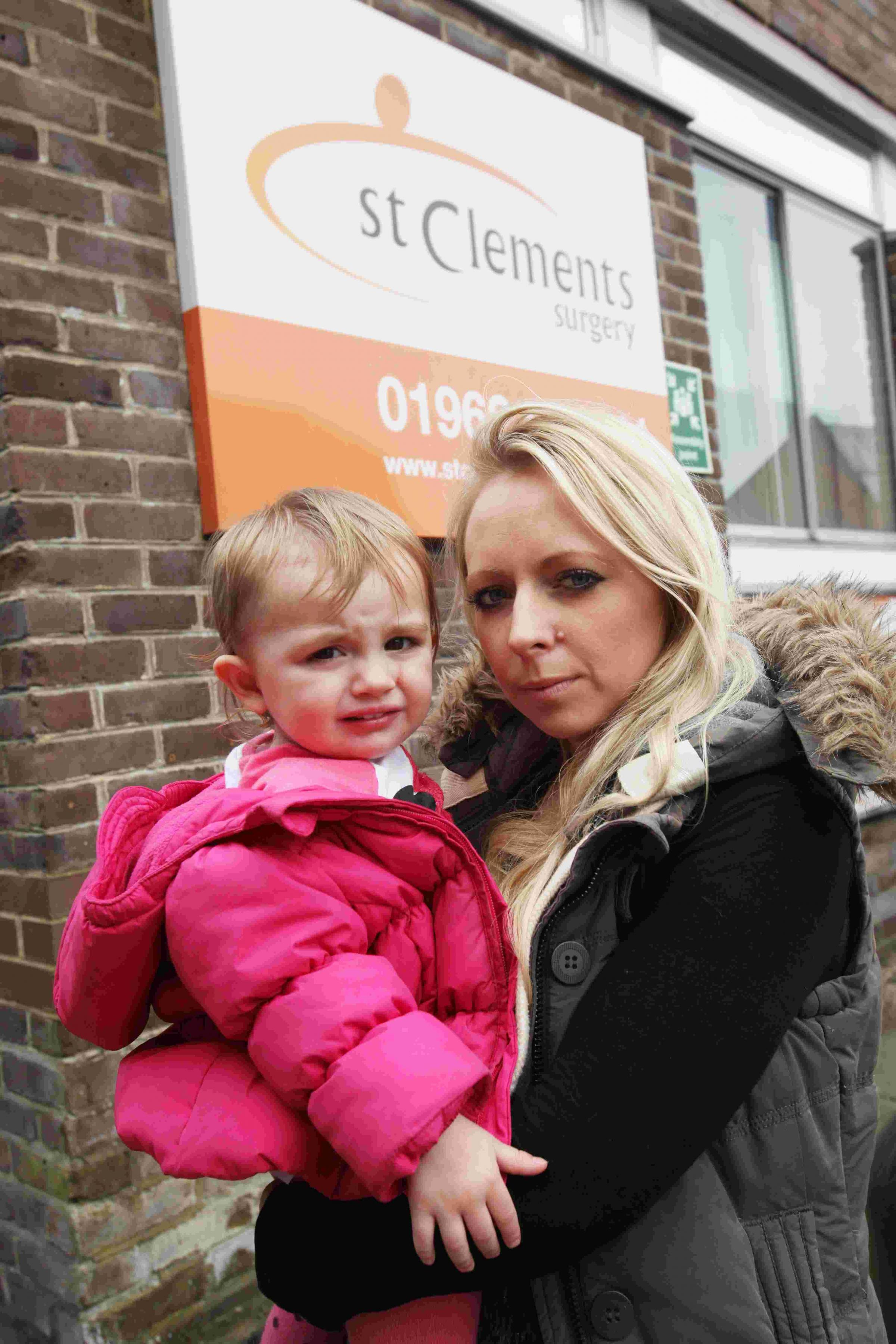 'HUMILIATED': Donna Galliott and daughter Lily.
