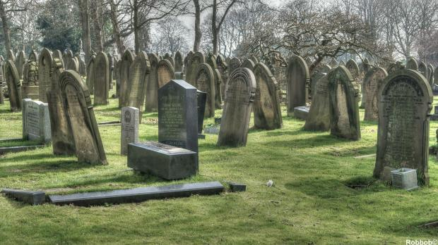 Man fined for pretending to be ghost in cemetery