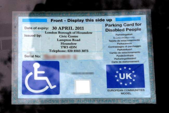 Image result for Blue Badge
