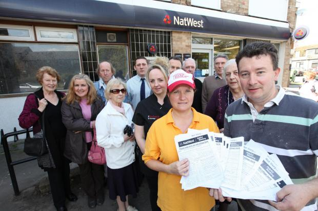 Daily Echo: Fair Oak residents and businesses are campaigning to save the village NatWest branch from being axed