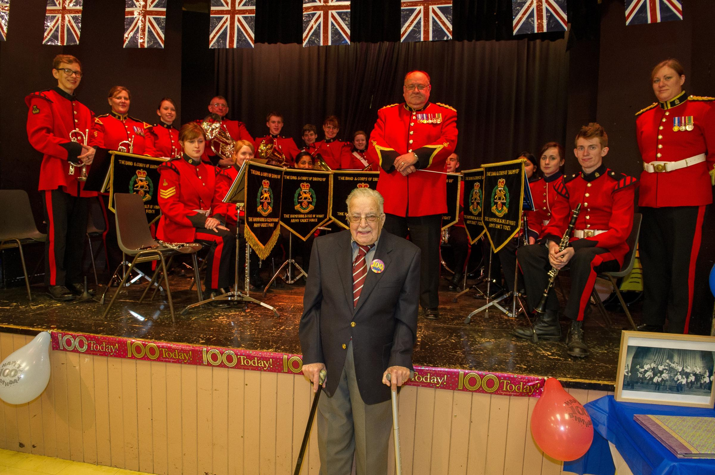 The brass band plays on for centenarian's celebration