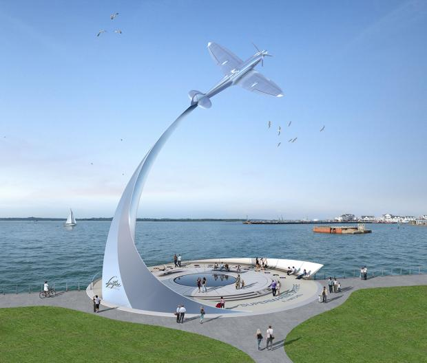How the Spitfire memorial planned for Mayflower Park will look