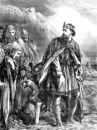 An engraving of King Canute