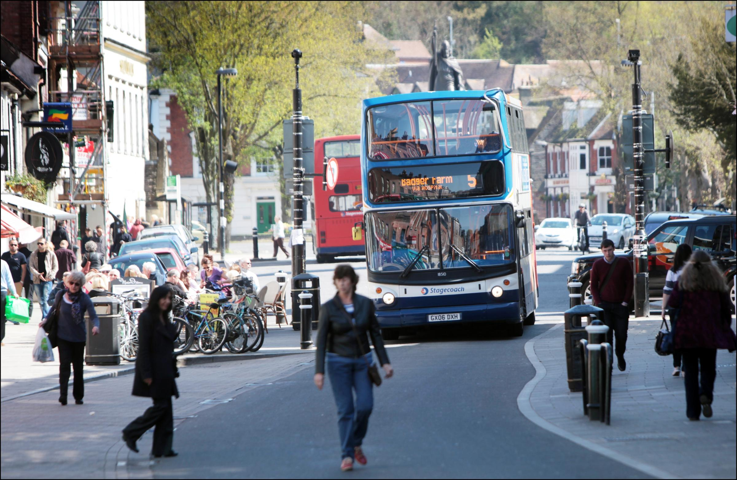 Bus firm clashes with city centre developers