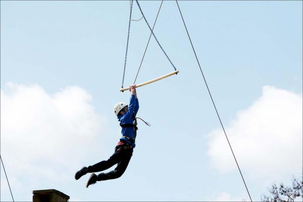 Thrill seekers take 'leap of faith'