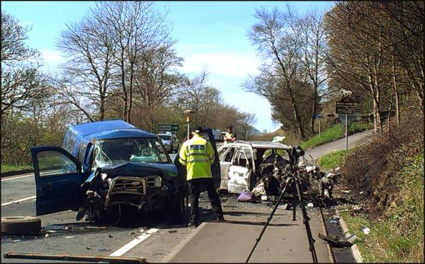 The scene after the accident. Picture: Cumbrian Newspapers.