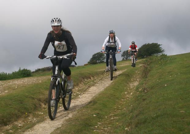 Cyclists take part in a previous Wightlink Wight Challenge