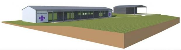 How the refurbished scout hut will look