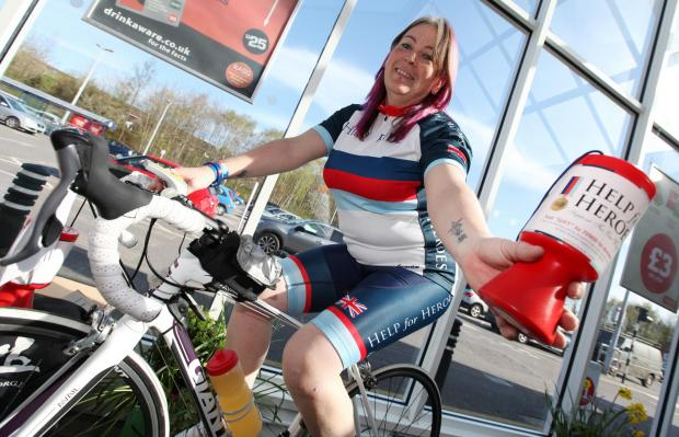Mother-of-four and fundraising cyclist Barbara Raymond
