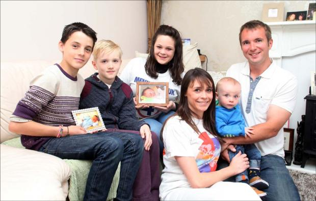 Amy and Richard Fraser and family are organising a walk in memory of baby William who died just 19-days-old