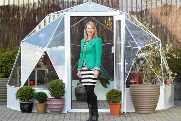 PRIDE: Pippa Bailey at Solardome on the Yeoman Industrial Park, Nursling.