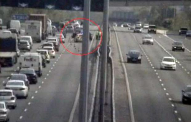 The scene of the crash on the M27. Image from Romanse.