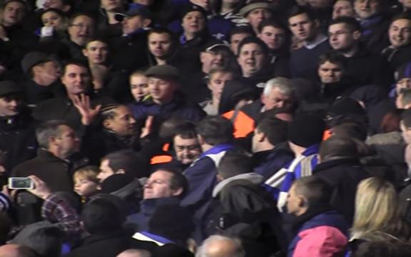 VIDEO: Fans fined over flare