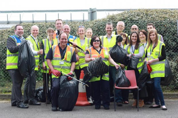 Team clean up Southampton Airport