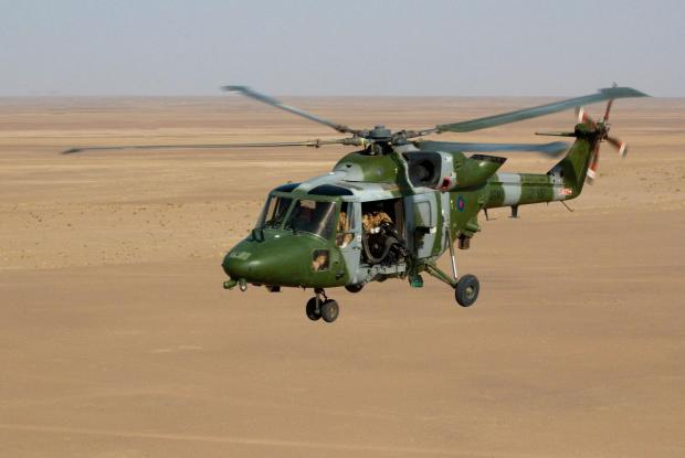 The RAF Odiham's Lynx that went down in Kandahar, 30 miles from the Pakistan border on April 26.
