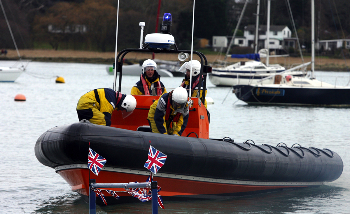 Stock image of the Hamble Lifeboat