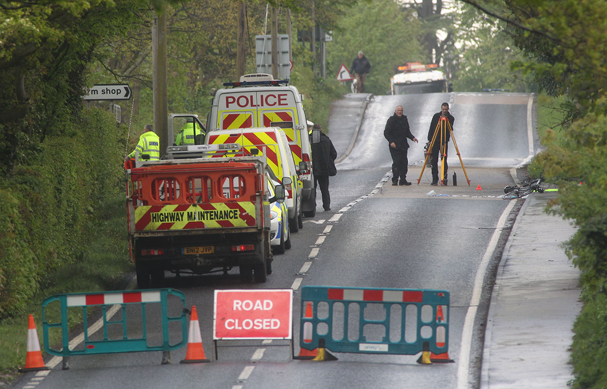 Cyclist fighting for life after road crash