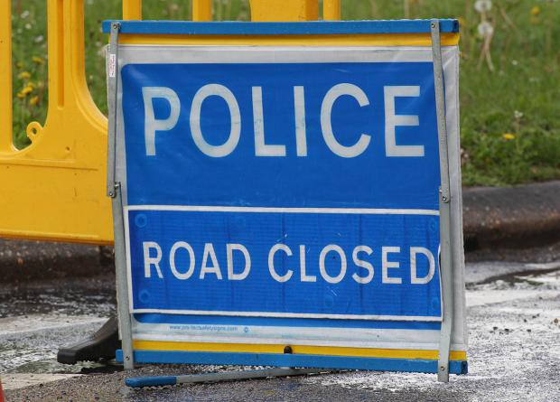 One lane of the bypass is currently closed