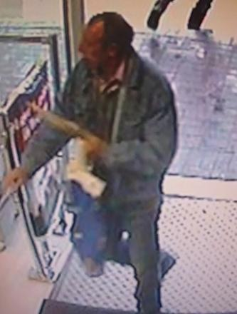 Police have released this CCTV image showing the last known sighting of missing Michael Hawkewell.