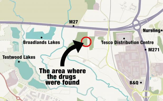 Daily Echo: Map of where the stash was found.