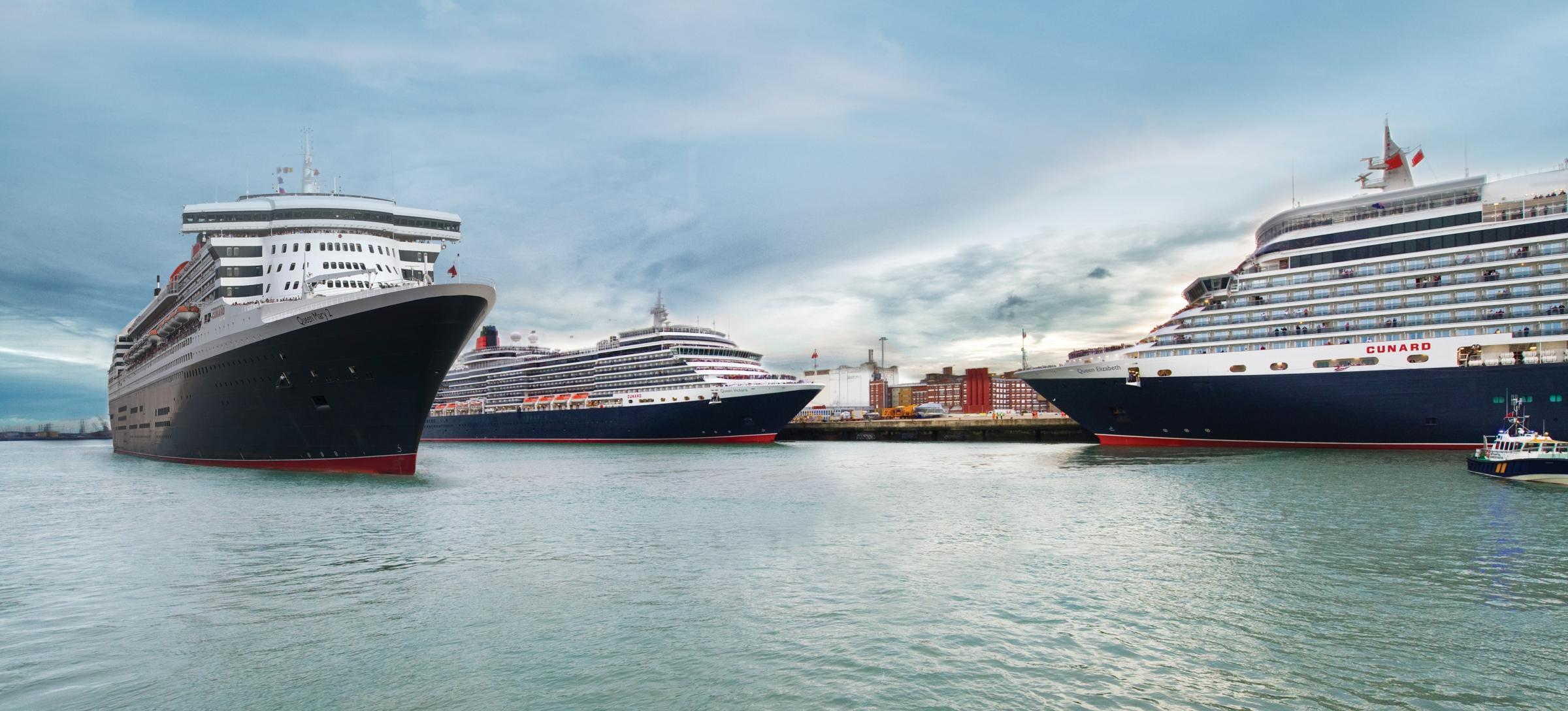 Cunard's Three Queens to arrive in Southampton this weekend