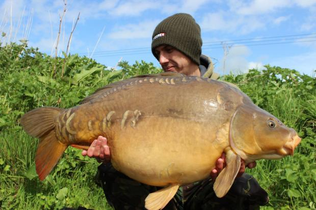Steve Kitcher with his 36lb 5oz fish from the Isle of Wight's Blackwater Syndicate