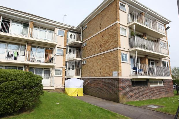 Daily Echo: The flats in Valentine Close