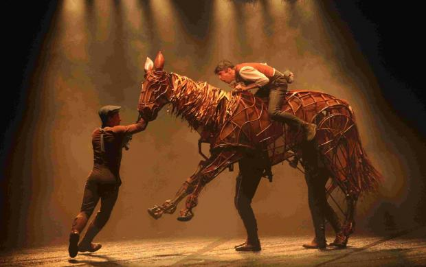 A scene for War Horse at The Mayflower.