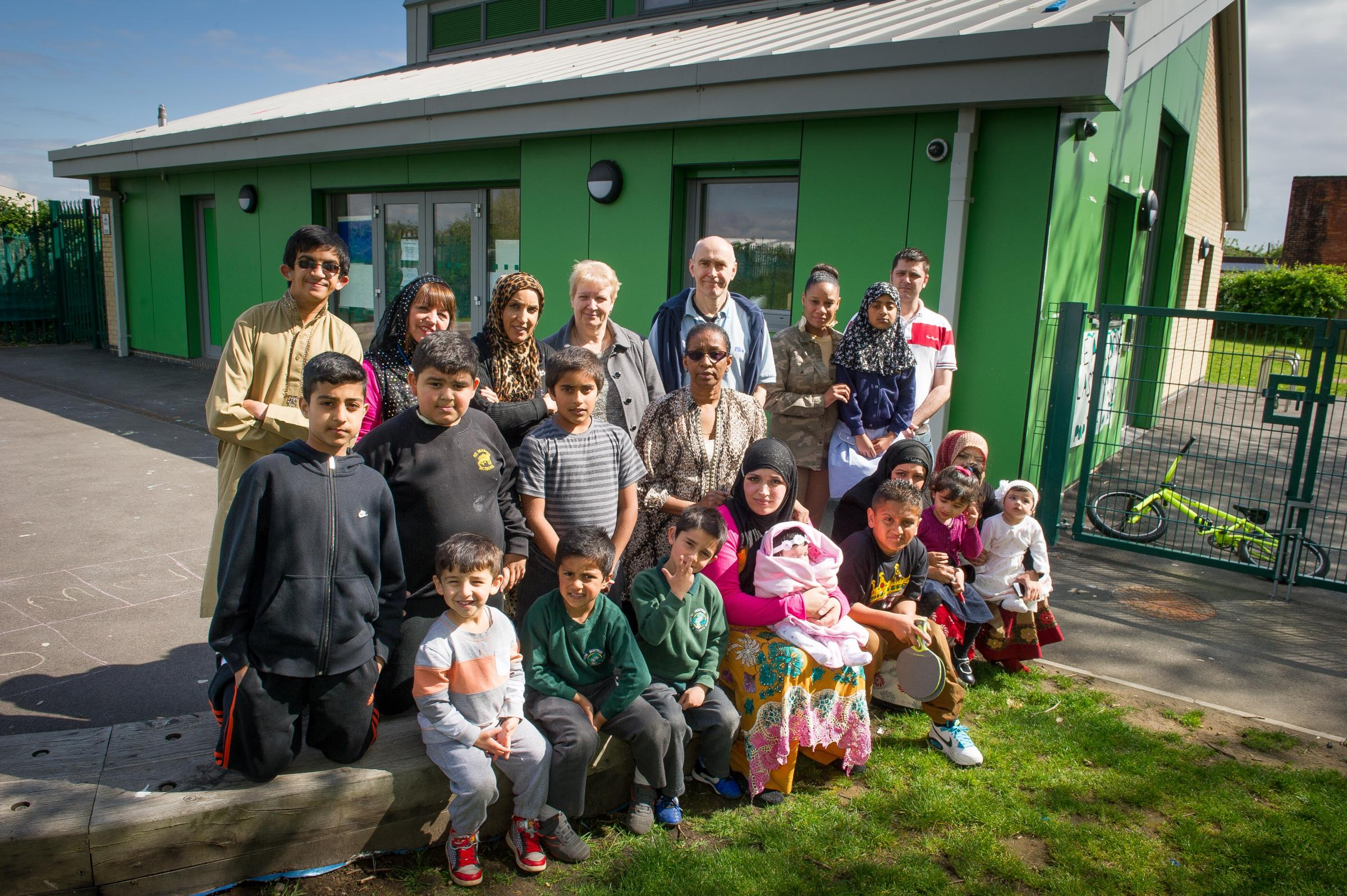 Children, parents and staff at the final day of Newtown Adventure Playground in Southampton