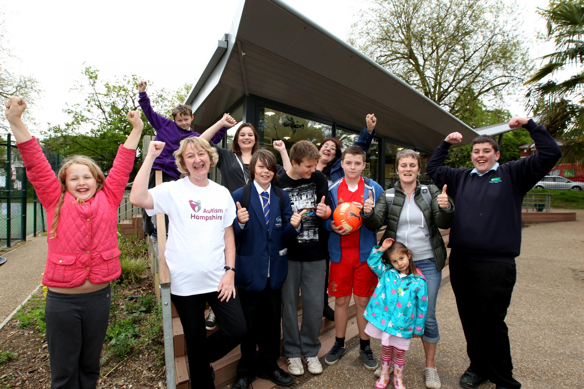 The Friends of St James' Park in Southampton celebrate their £1,000 grant