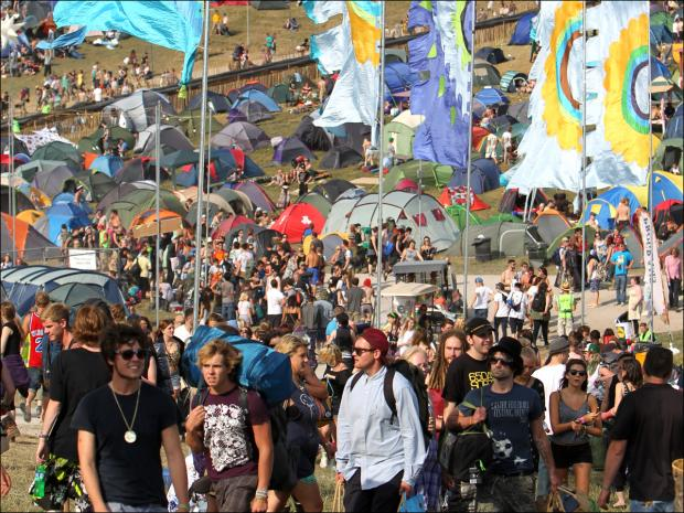 The BoomTown festival site at Matterley Bowl near Winchester