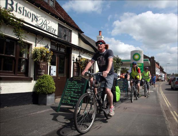 Pub's pedal power boosts children's charity