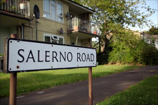 Salerno Road, the area of one of the fires