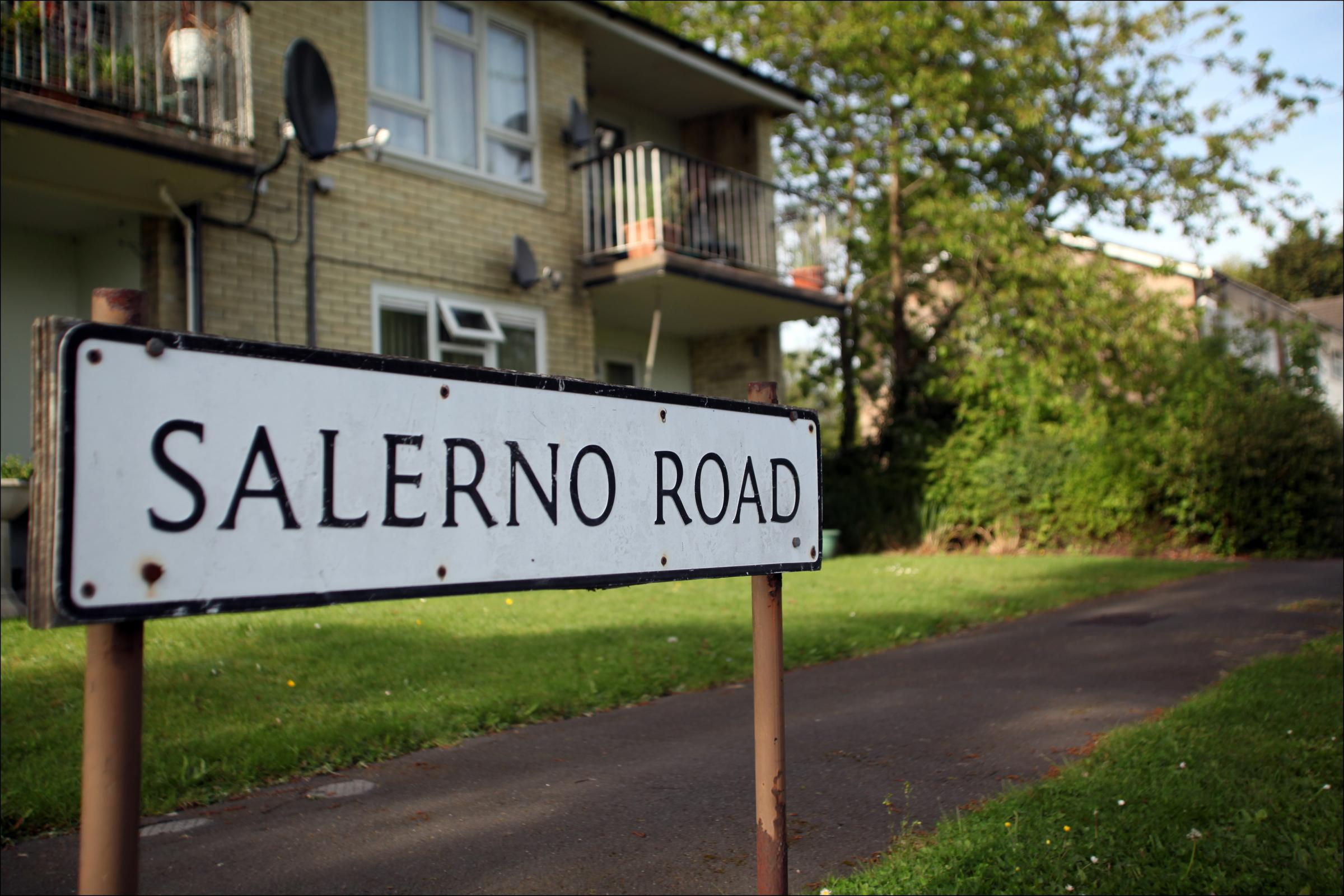 Salerno Road, the area of one of the fires started by arsonists in Southampton