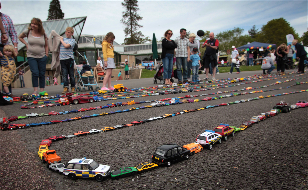 National Motor Museum breaks toy car record