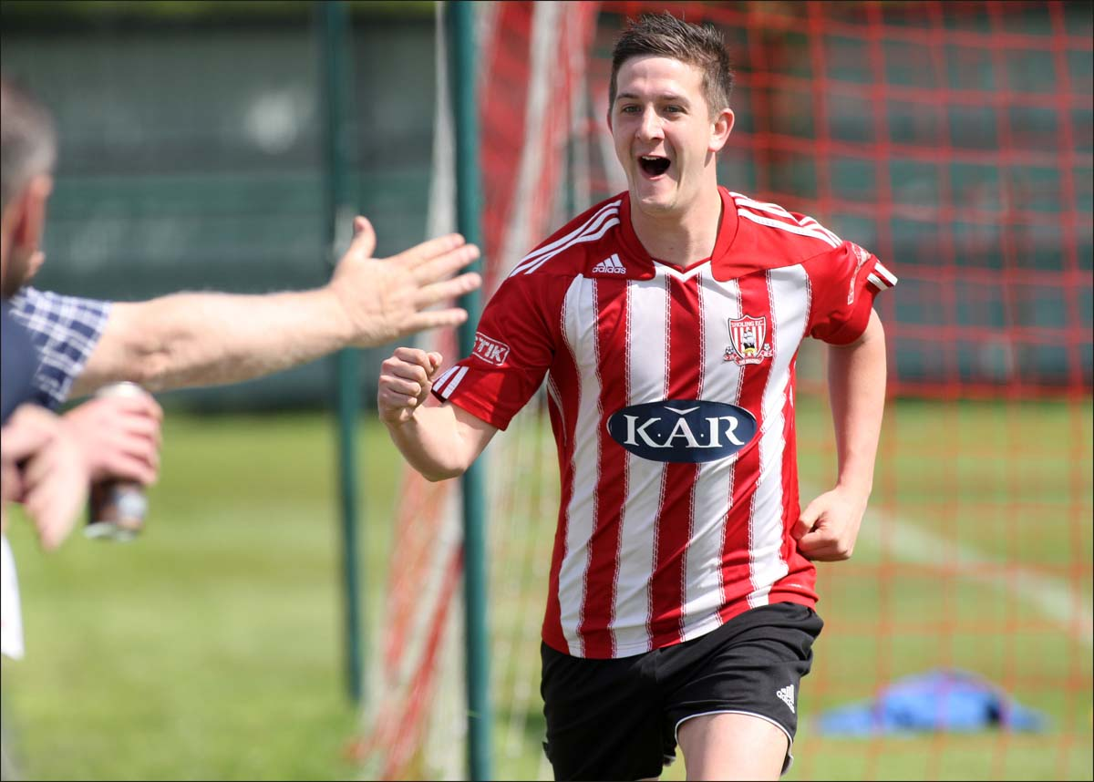 Nick Watts played a part in Sholing's second goal
