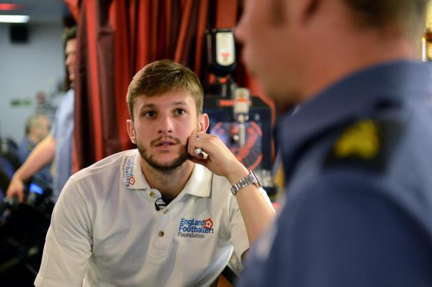 Daily Echo: Adam Lallana on board HMS Daring