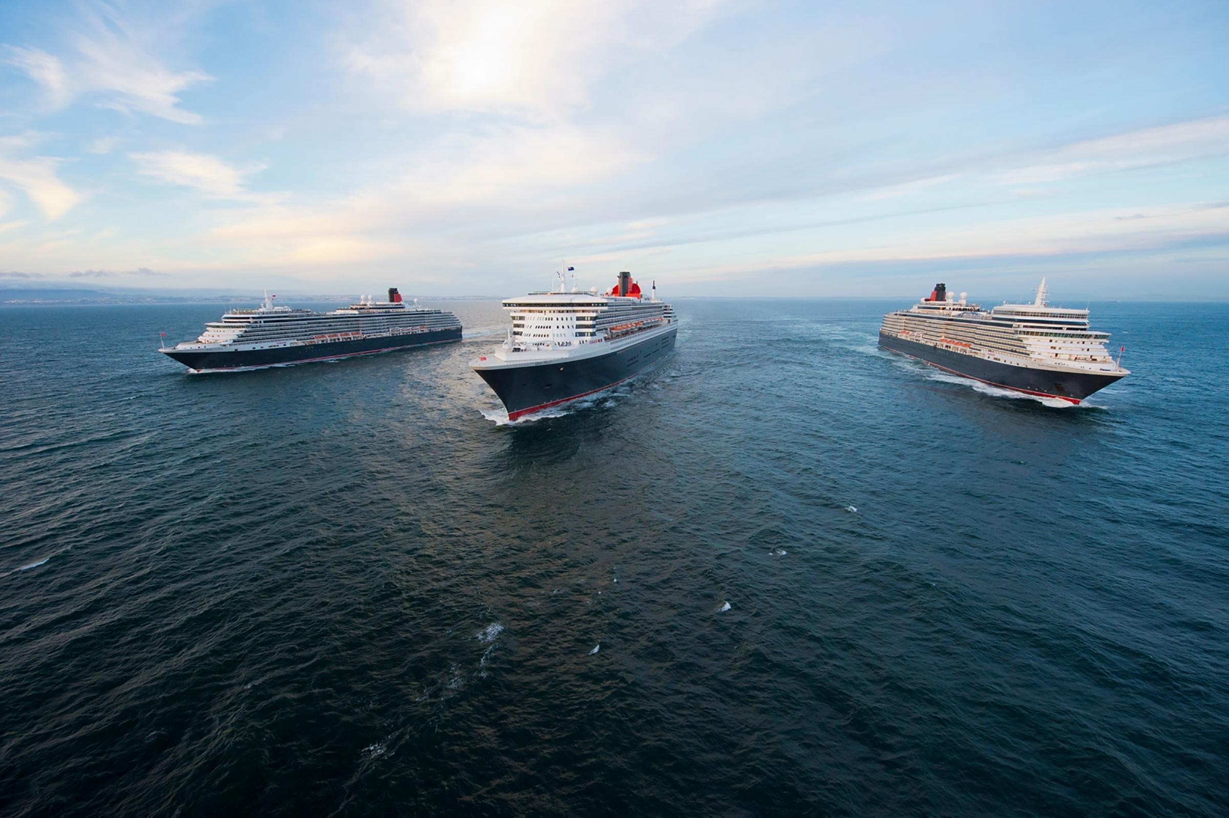 Where to see Cunard's Three Queens for QM2 celebrations