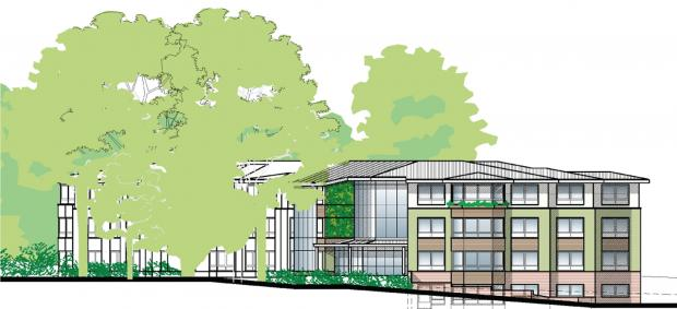 Daily Echo: The proposed care home in Southampton Road, Hythe