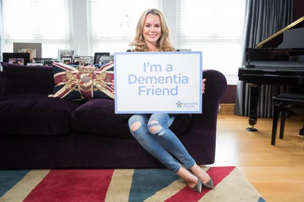 Celebrity support: Hampshire TV star Amanda Holden backs campaign