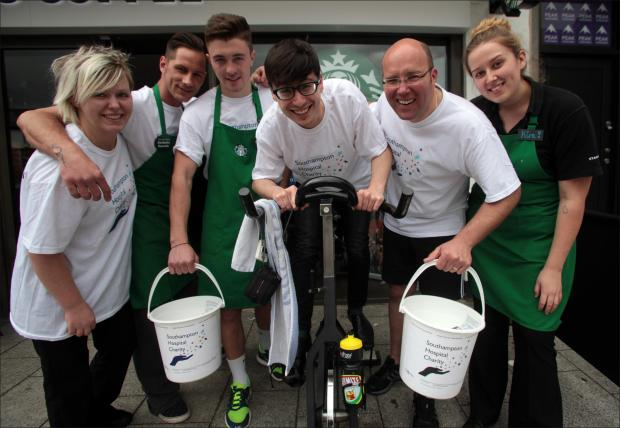 Daily Echo: Starbucks staff raise cash for Southampton Hospital Charity