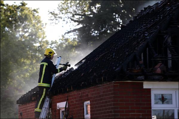 Terrifying escape as family flee from burning home