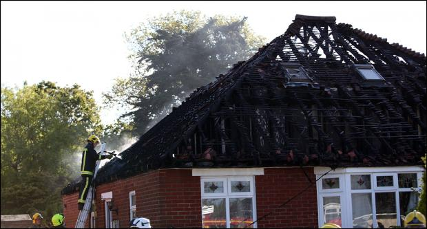 Family flee for their lives from house blaze