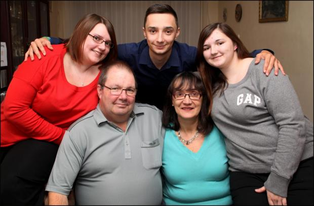 Amputee Nigel Wilmott with wife Karen and daughters Hayley, left, and Chloe and son Ashley.