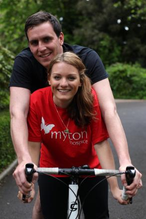 Adam Chart and Zoe Beresford will be cycling across Malawi in memory of Zoe's father