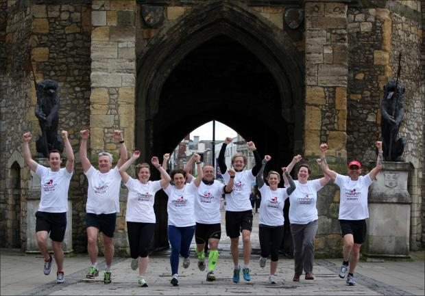 The launch of the Southampton half-marathon