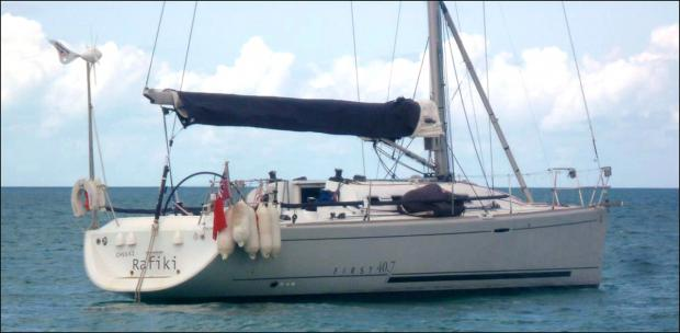 Daily Echo: The Cheeki Rafiki yacht. Picture RYA