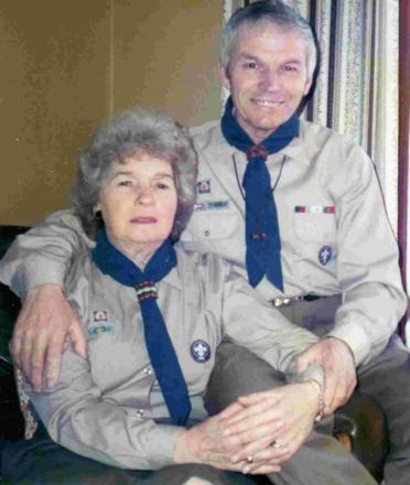 POPULAR: Fred Heather with wife Dorrie during their Scout leader days.