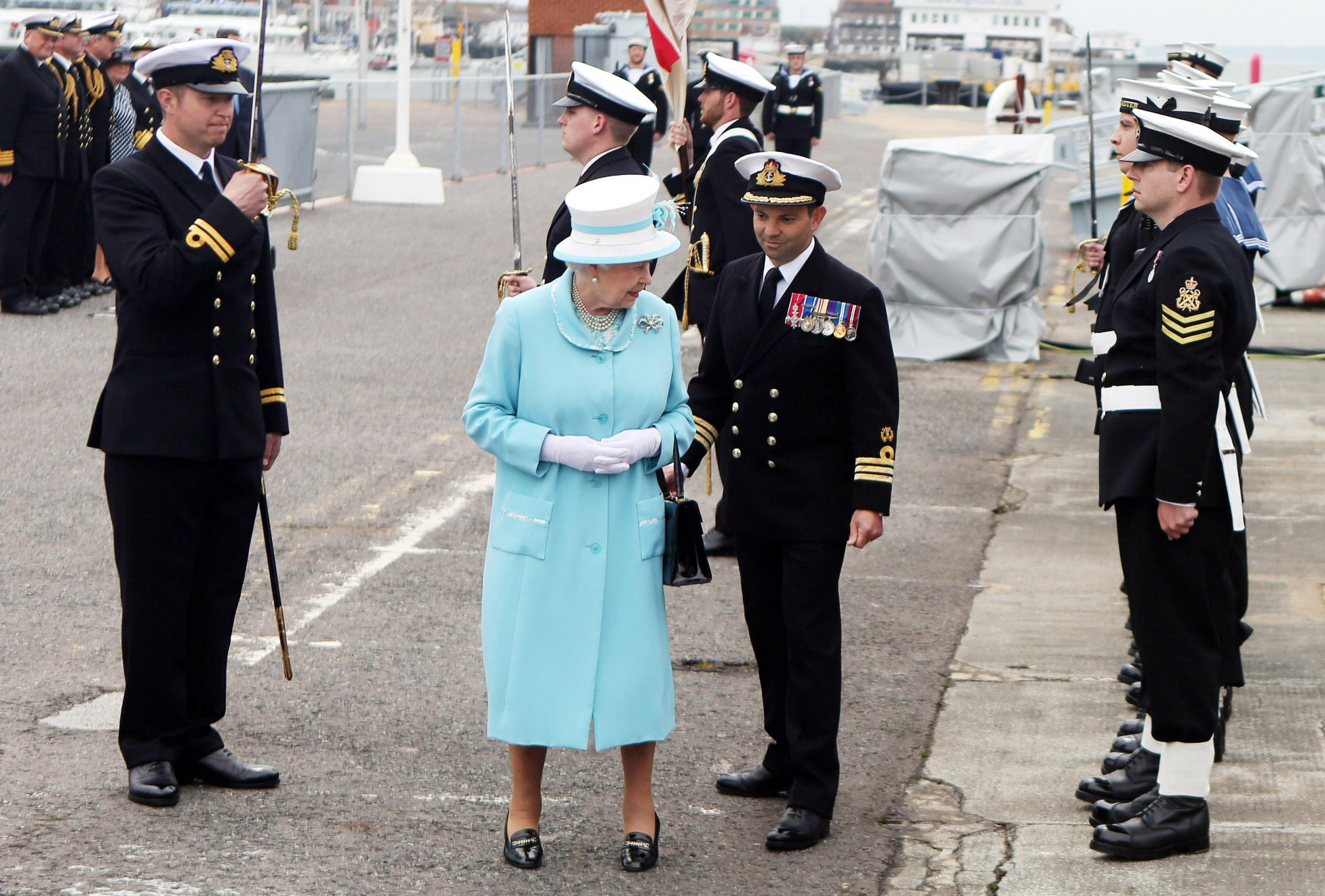 The Queen meets the crew of HMS Lancaster