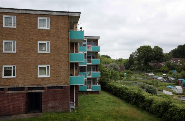 A 34-year-old man fell from a fourth-floor balcony at flats in Keynsham Road.